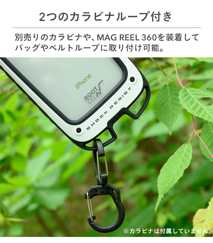 [iPhone 13対応]ROOT CO. Gravity Shock Resist Case +Hold.