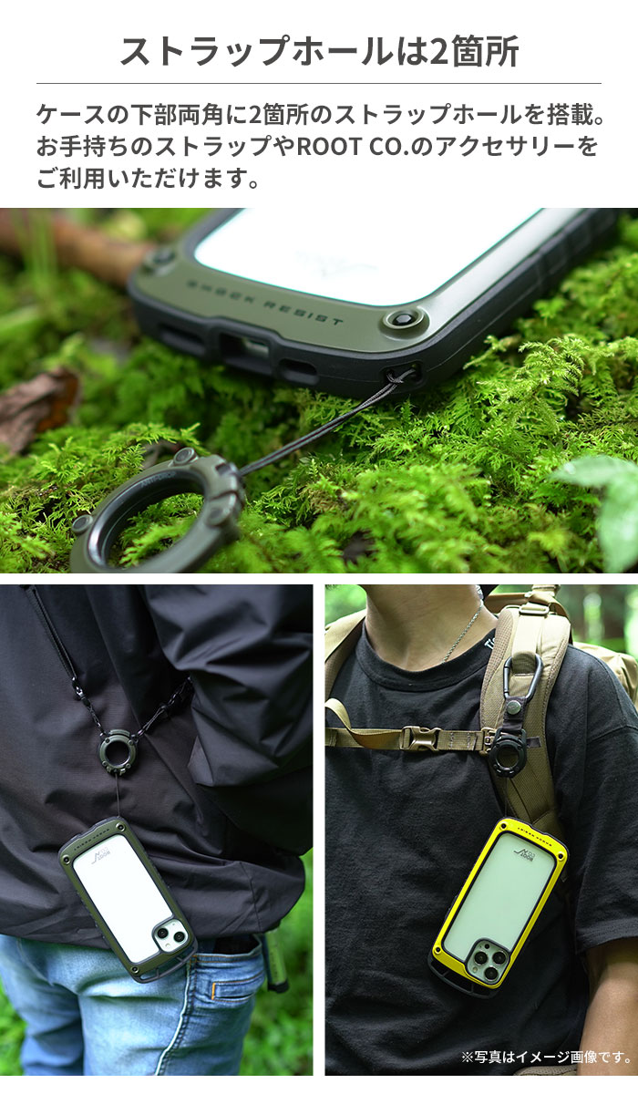 [iPhone 13 Pro Max専用]ROOT CO. GRAVITY Shock Resist Case +Hold.