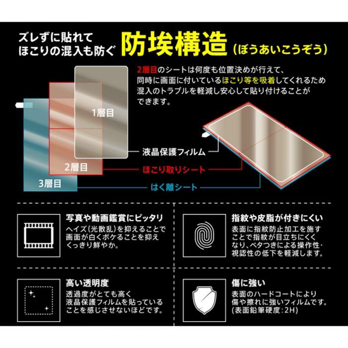 [AQUOS sense3/sense3 lite専用]液晶保護フィルム 指紋防止(光沢)