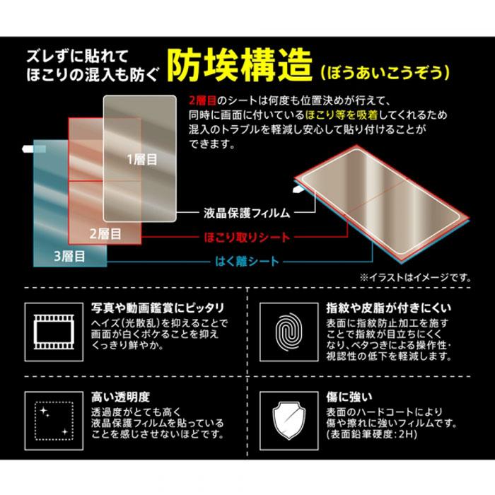 [Xperia 10 II専用]液晶保護フィルム(指紋防止/光沢)