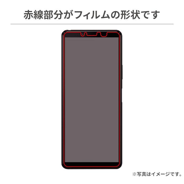 [Xperia 10 II専用]液晶保護ガラスコートフィルム(ブルーライトカット)