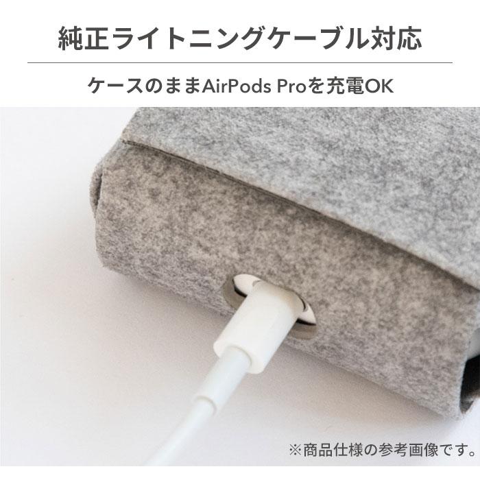 [AirPods Pro専用]simplism クラリーノ フリップケース(シュリンク)
