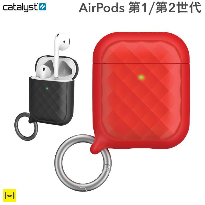 iPhoneケース ブランド [AirPods専用]catalyst カタリスト リングクリップケース (レッド)