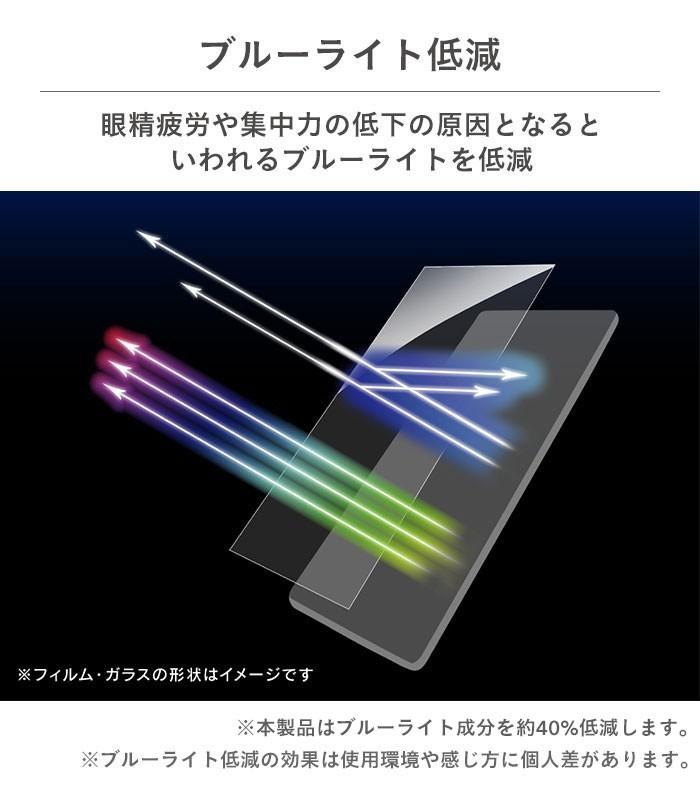 [iPhone 12 mini専用]simplism フルクリア ブルーライト低減 画面保護強化ガラス(反射防止)