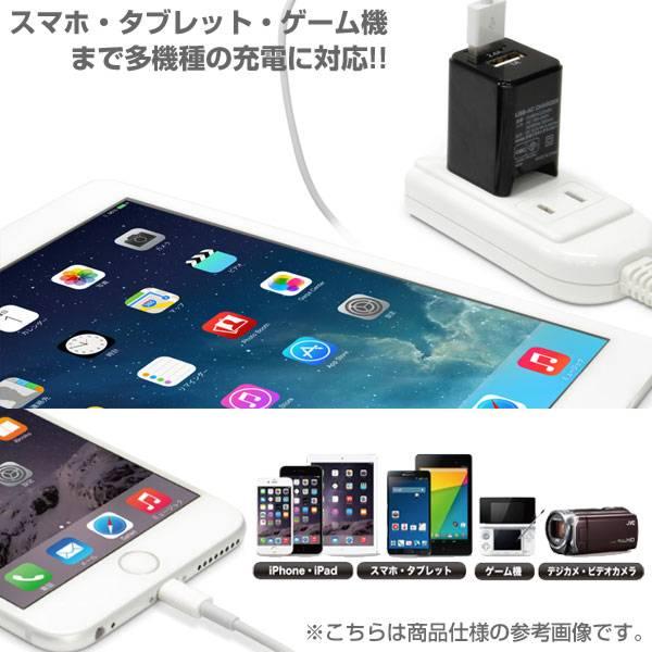 [各種スマートフォン対応]USB充電器 cube タイプ224(ホワイト)【スマホ】