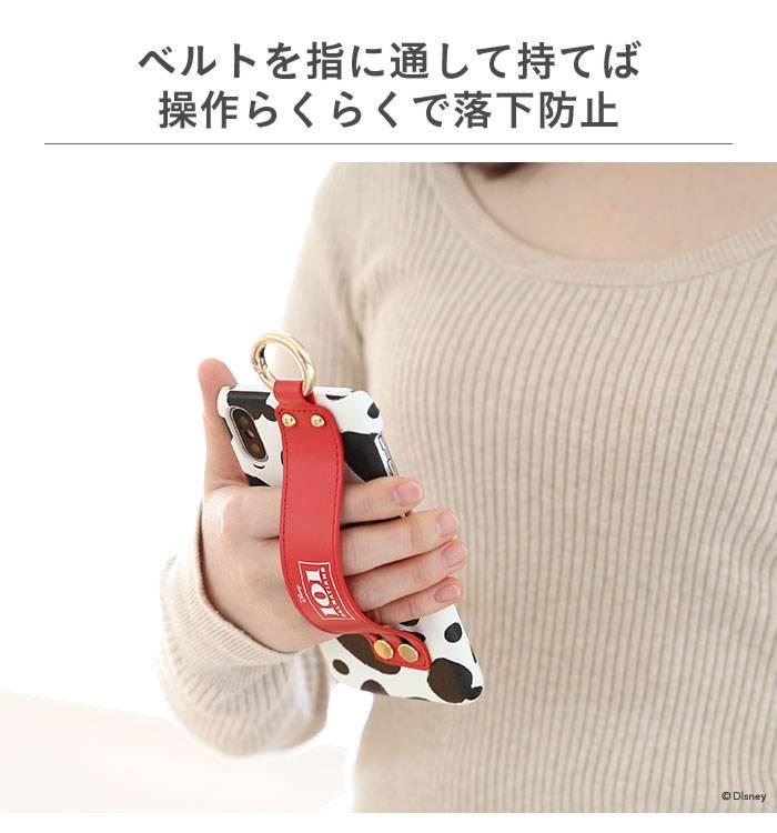 持ちやすさアップ!おしゃれなハードカバー easty バンド付 iPhoneケース