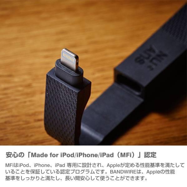 [MFi取得品]NuAns BANDWIRE Lightningケーブル【iphone・ipod 充電】