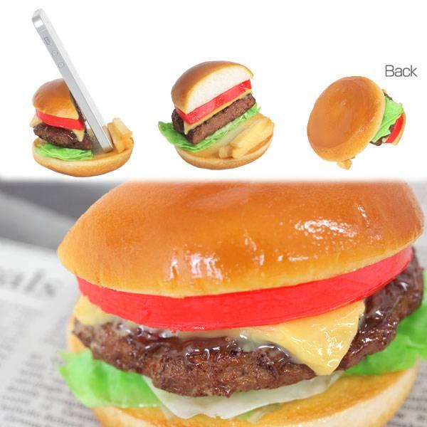 [各種スマートフォン対応]食品サンプルスタンド(チーズバーガー)