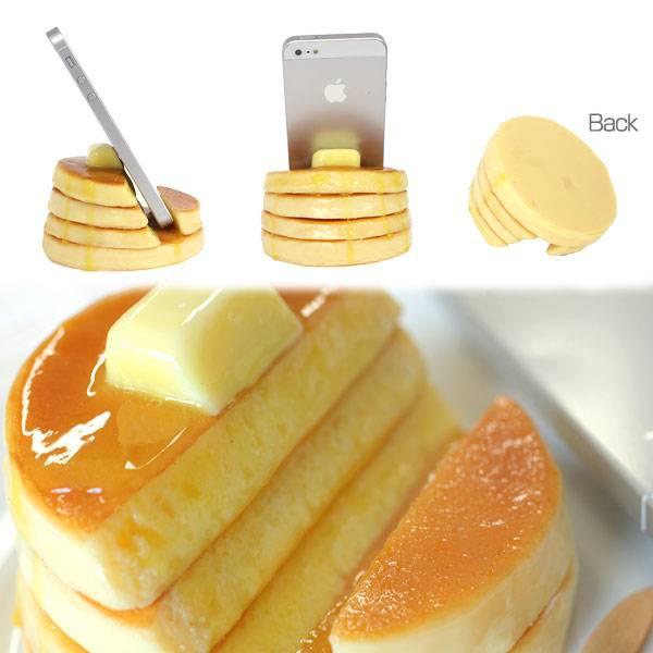 [各種スマートフォン対応]食品サンプルスタンド(ホットケーキ)