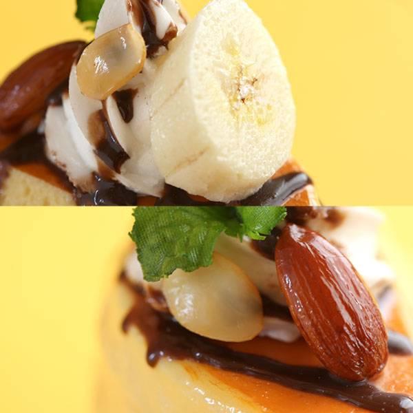 [各種スマートフォン対応]食品サンプルスタンド(チョコバナナパンケーキ)