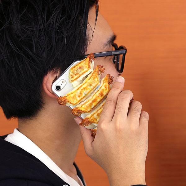 [iPhone 8/7 ケース]食品サンプルカバー(鳥居家のすぺしゃる餃子)