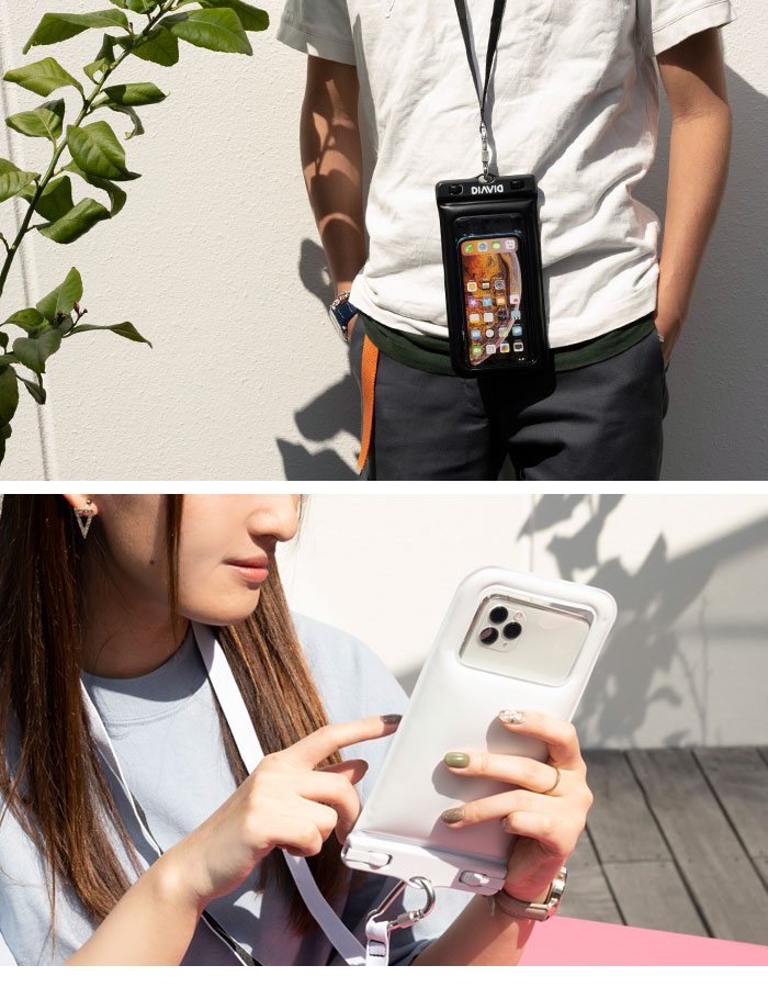 [各種スマートフォン対応]DIVAID フローティング防水ケース ワイドサイズ