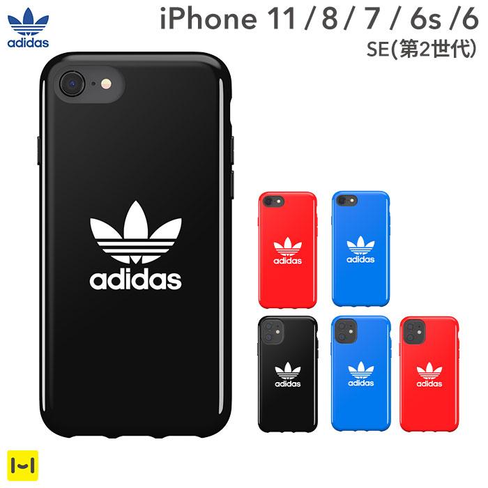 [iPhone 11/8/7/6s/6/SE(第2世代)専用]adidas Originals TPU Case Trefoil