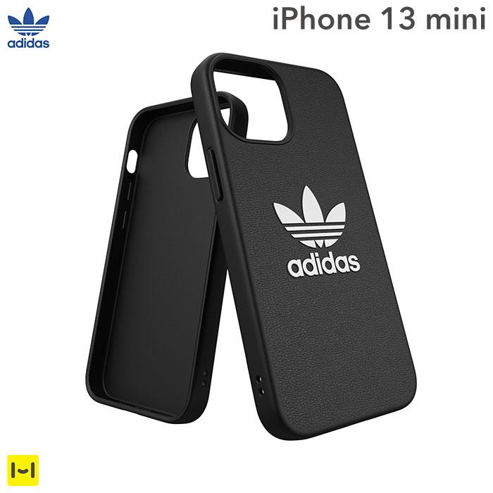 [iPhone 13 mini専用]adidas アディダス Originals Moulded Case BASIC(Black/White)