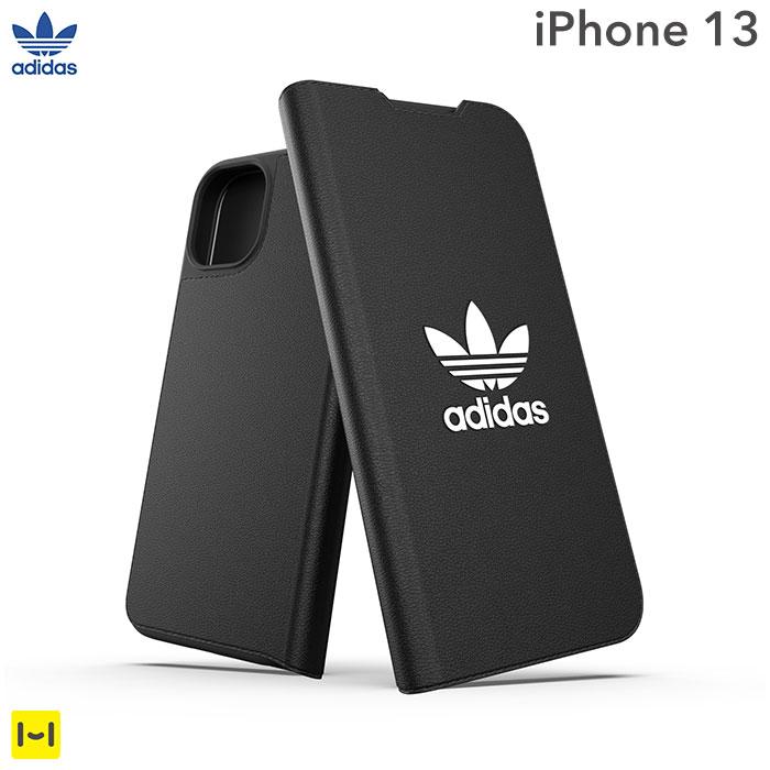 [iPhone 13専用]adidas アディダス Originals Booklet Case BASIC(Black/White)