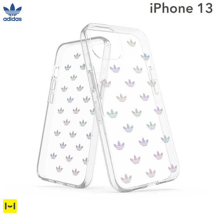 [iPhone 13専用]adidas アディダス Originals Clear Case ENTRY(Colorful)