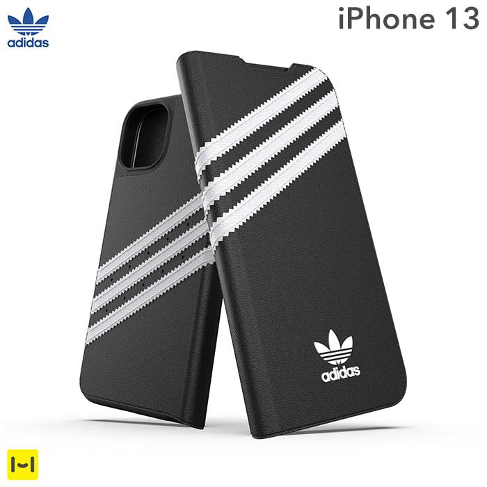 [iPhone 13専用]adidas アディダス Originals Booklet Case SAMBA(Black/White)