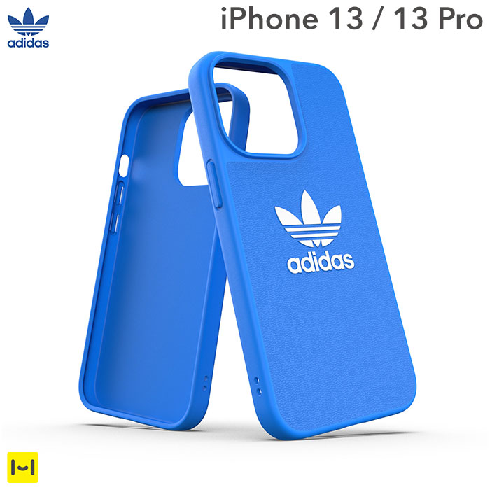 [iPhone 13/13 Pro専用]adidas アディダス Originals Moulded Case BASIC(Bluebird/White)