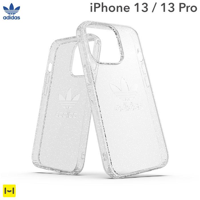 [iPhone 13/13 Pro専用]adidas アディダス Originals Protective Clear Case(Glitter/Clear)