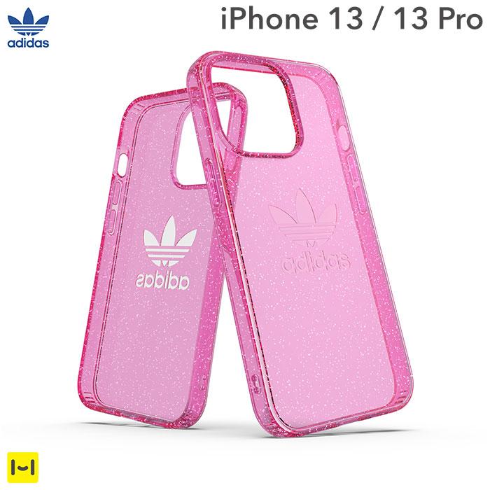[iPhone 13/13 Pro専用]adidas アディダス Originals Protective Clear Case(Glitter/Pink)