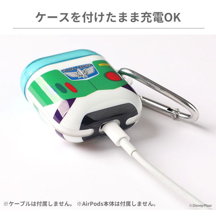 [AirPods専用]ディズニー/ピクサーキャラクター/カラビナ付きTPUケース