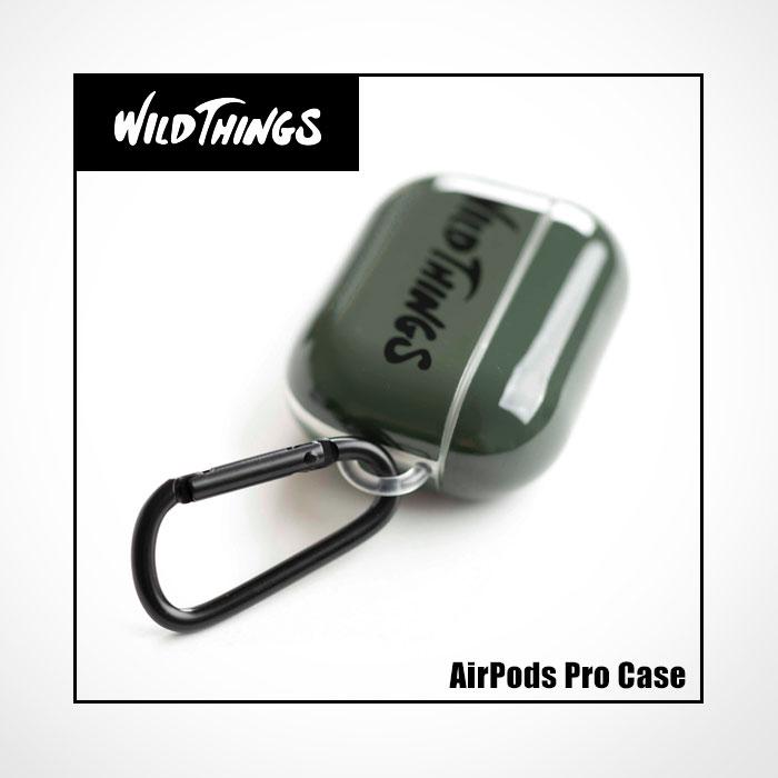 [AirPods Pro専用]WILD THINGS(ワイルドシングス) カラビナ付きTPUケース Hamee