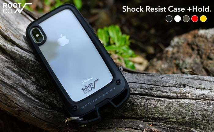 [iPhone 13/13 mini/13 Pro/12/12 mini/12 Pro/8/7/SE(第2世代)専用]ROOT CO. Gravity                 Shock Resist Case +Hold.