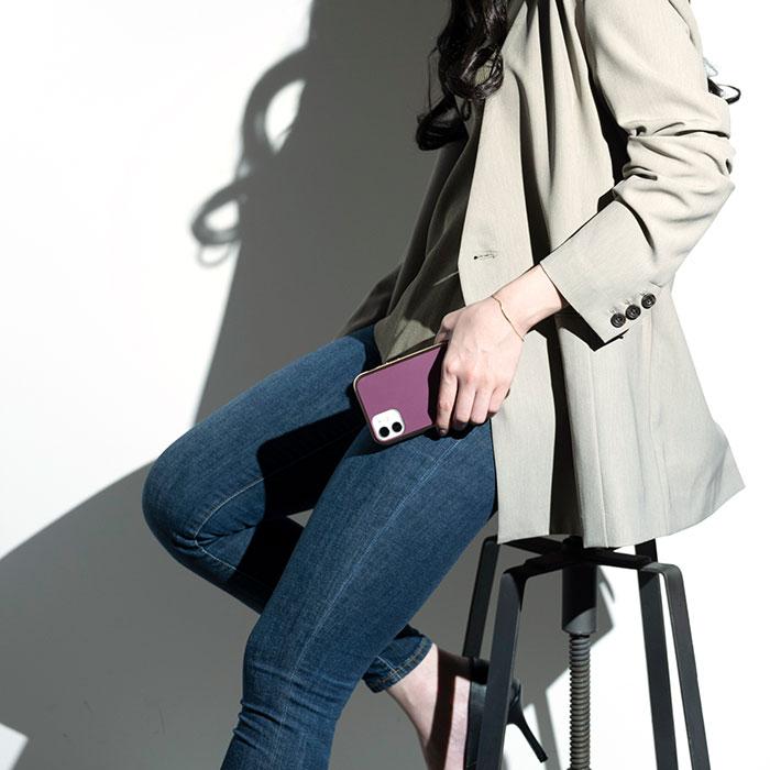 韓国っぽ 上品 ニュアンスカラー くすみ マット ゴールド sality iPhoneケース 人気 可愛い トレンド 耐衝撃