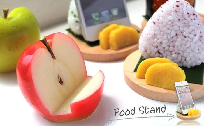 [各種スマートフォン対応]食品サンプルスタンド(イクラ、サーモン)