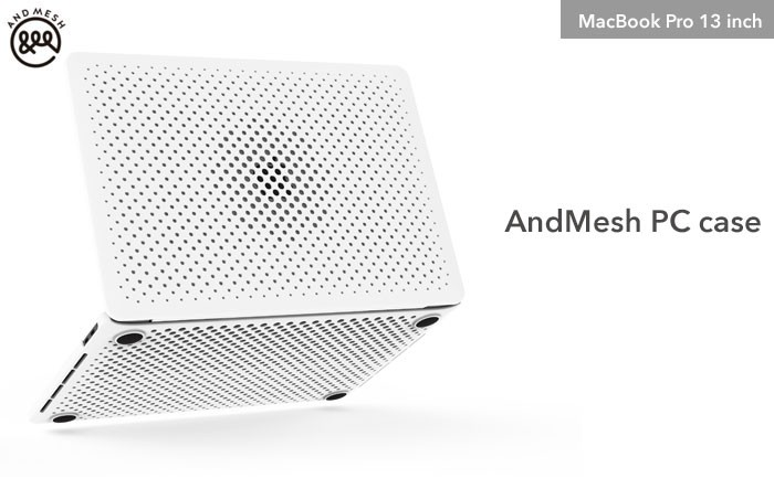 [MacBook Pro 13インチ専用]AndMesh メッシュケース(ホワイト)