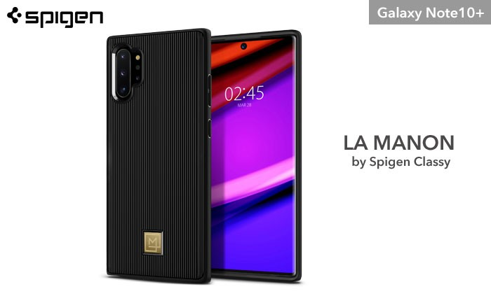 [Galaxy Note10+専用]Spigen La Manon Classy ケース(ブラック)