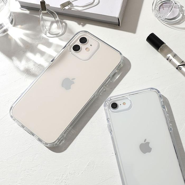 【高コスパ!】頑丈で機能がいっぱい付いた透明クリアケース HIGHER(ハイアー) iPhone13スマホケース