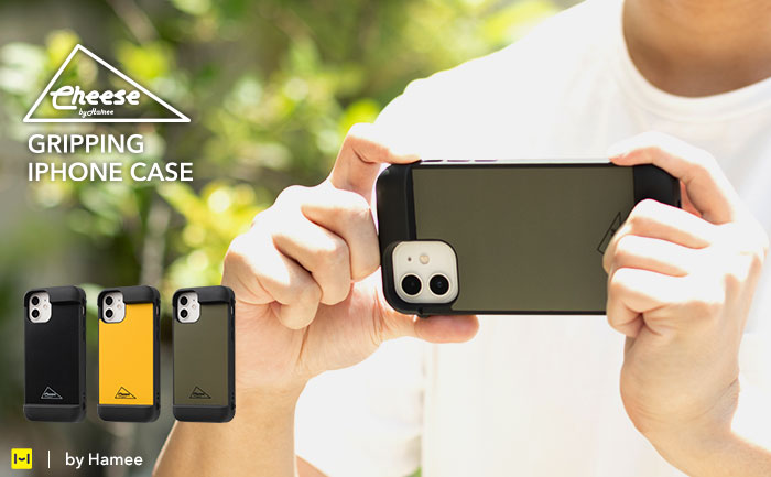 [iPhone 12/12 Pro専用]Cheese Gripping Case グリッピングケース|Hamee【 ゲーム 操作 耐衝撃 撮影便利 持ちやすい 】